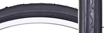 SunLite 26 x 1-3/8 Tire, Black, K40