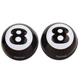 Triktopz Triktopz 8-Ball,black - valve cap #EBC-BK