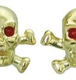 Triktopz Triktopz Skull & Crossbones,gold - valve cap #SKC-GD