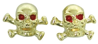 Triktopz Triktopz Gold Skull & Crossbones Valve Caps