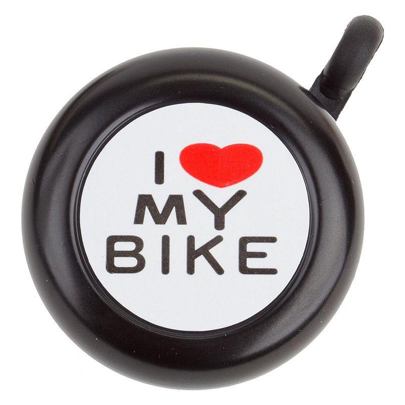 """SunLite Sunlite Bell I """"Heart"""" My Bike Black"""