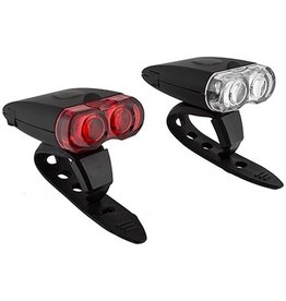 SunLite SunLite Rechargeable 2 LED Light Combo Set