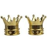 Triktopz Triktopz Gold Crown Valve Caps