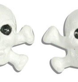 Triktopz Triktopz White Skull & Crossbones Valve Caps