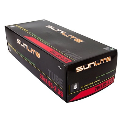 SunLite 26 x 1.95 - 2.35  Thorn Resistant Tube 32mm SV