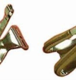 MKS MKS Leather Tipped,chrome/tan large - toe clips #