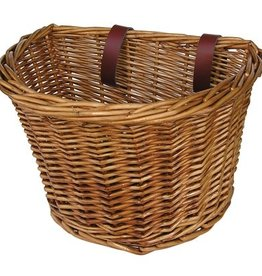 Manhattan American Front Handlebar Wicker Basket Medium Brown