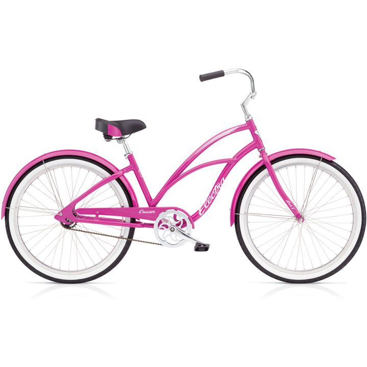 """Electra Electra Cruiser Lux 1 24"""", Girls', Pink Sparkle"""