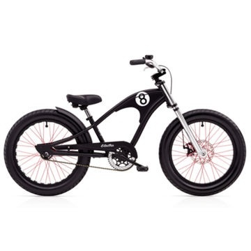 "Electra Straight 8 20"" Matte Black Boys'"