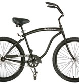 Hermosa Cyclery Schu-eet - Aluminum 1-Speed Cruiser, Men's, Matte Black