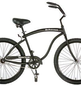 Hermosa Cyclery Schu-eet - Aluminum 1-Speed Cruiser, Men's, Matte Black