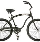 Hermosa Cyclery Schu-eet - Aluminum 7-Speed Cruiser, Men's, Matte Black