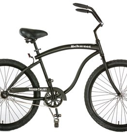 Hermosa Cyclery Schu-eet - Alloy 7-Speed Cruiser, Men's, Matte Black