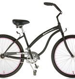 Hermosa Cyclery Schu-eet - Steel 1-Speed Cruiser, Ladies', Matte Black