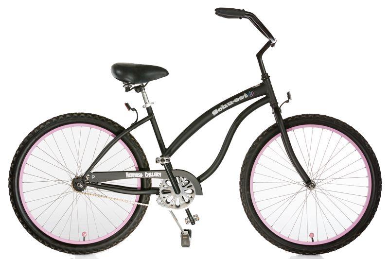 Hermosa Cyclery Schu-eet - Steel 1-Speed Cruiser, Ladies', Matte Black