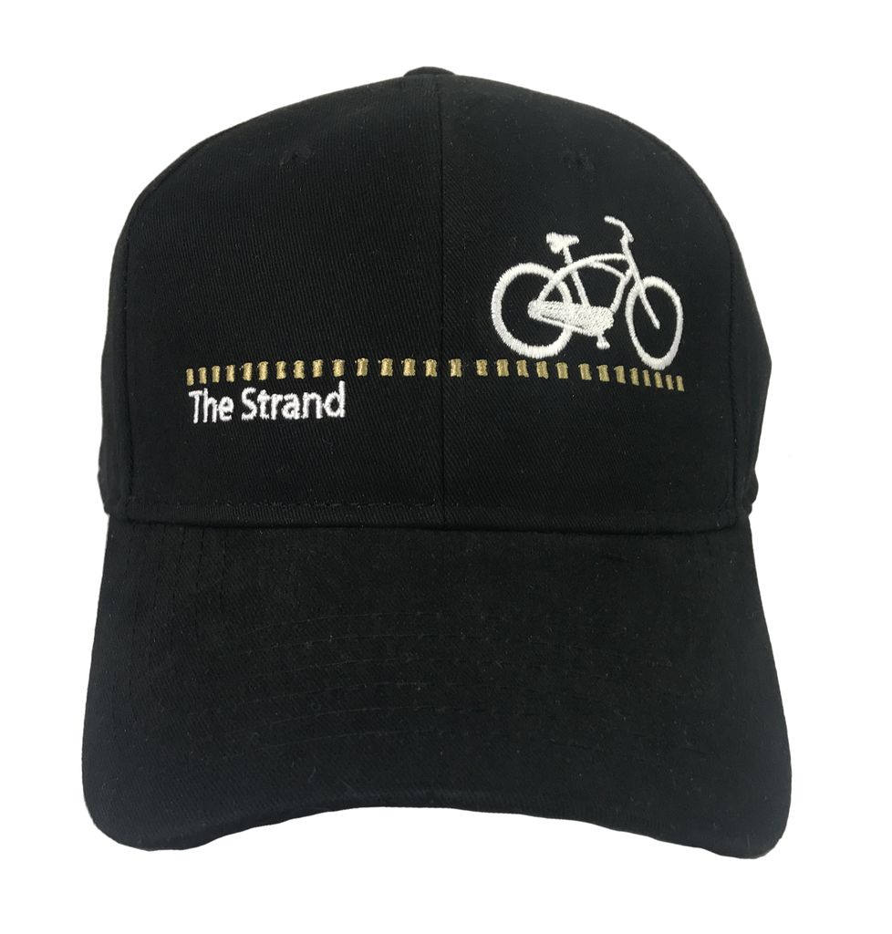 Hermosa Cyclery Hermosa Cyclery - The Strand, Structured Mid-Profile Black Hat Style 256