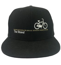 Hermosa Cyclery Hermosa Cyclery - The Strand, Structured High-Profile Black/Red Hat Style 357
