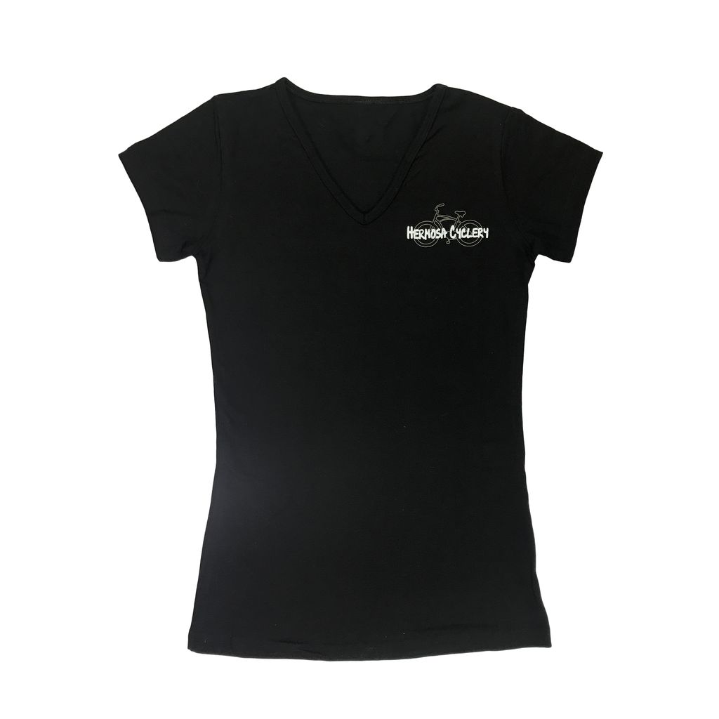 Hermosa Cyclery Hermosa Cyclery T-Shirt, Ladies' V-Neck