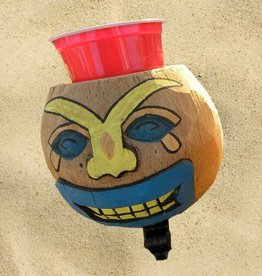 Cruiser Candy NEW! All Natural Hand Made Coconut Drink Holder - Sad Face