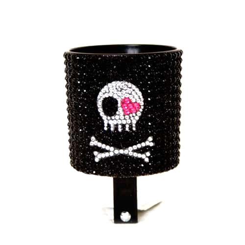 Cruiser Candy Skull Rhinestone Drink Holder