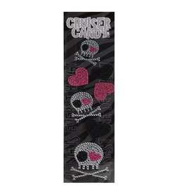 Cruiser Candy Skull Rhinestone Decals