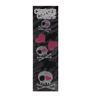 Cruiser Candy Skull Rhinestone Decals