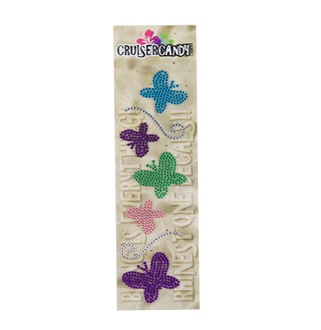 Cruiser Candy Butterfly Rhinestone Decals