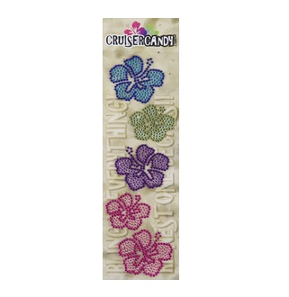 Cruiser Candy Hibiscus Rhinestone Decals