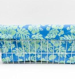 Cruiser Candy Large Basket Trike Liner - Blue/Green Hibiscus