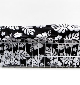 Cruiser Candy Large Basket Trike Liner - Black & White Hibiscus