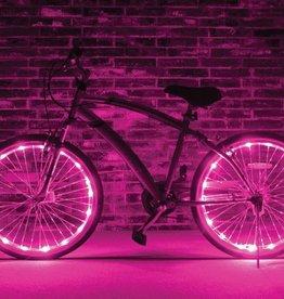 Brightz, Ltd. Wheel Brightz LED Lights Pink