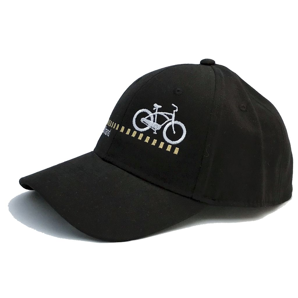 Hermosa Cyclery Hermosa Cyclery - The Strand, Structured Low-Profile Black Hat - Style 256