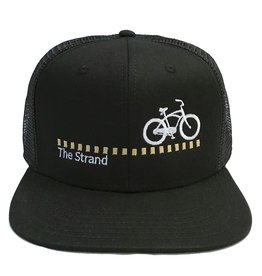 Hermosa Cyclery Hermosa Cyclery - The Strand, Structured High-Profile Black Hat - Trucker/Mesh Style 487