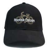 Hermosa Cyclery Hermosa Cyclery - Bike Logo, Structured Low-Profile Black Hat - Style 256