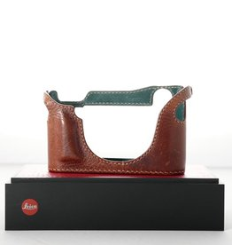 Used Arte di Mano Half Case for Leica M (Typ 240) - Tan Leather/Green Iterior