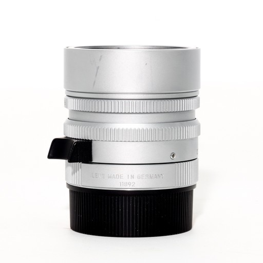 Used 50mm Summilux f/1.4 ASPH Silver w/ Box, and Case - Recent Leica CLA