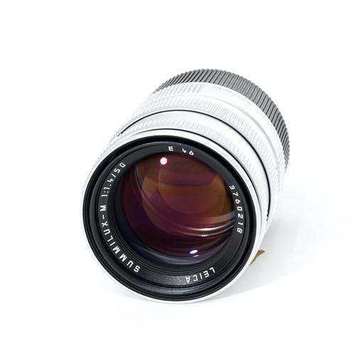 Used 50mm Summilux f/1.4 Silver Pre-ASPH w/ Box, Case, and Leica E46 UVA