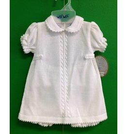#873742S 2-PC WHITE KNIT DRESS