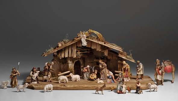 "KO Nativity Set 29 pcs. - stable Holy Night, 5"", colored"