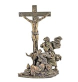 """Crucifixion Masterpiece, Cold-Cast Bronze, Lightly Hand-Painted, 11"""""""