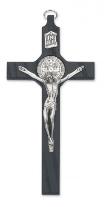 "8"" BLACK ST. BENEDICT CRUCIFIX (w/ gift box)"