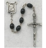 McVan, Inc. 4X6MM BLACK WOOD PAPAL ROSARY