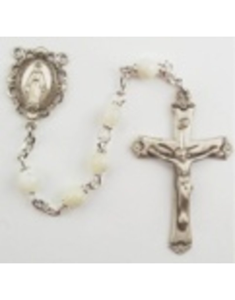 McVan, Inc. 5MM GENUINE MOTHER OF PEARL ROSARY