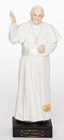 """10.75""""H POPE FRANCIS FIGURE"""