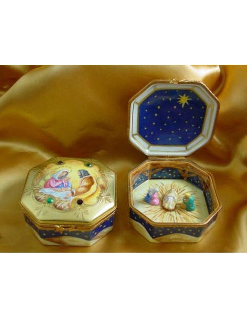 Rochard Limoges Nativity Octagon
