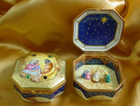 Rochard Limoges Nativity Octagon