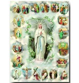 "William J. Hirten Co., LLC 20 Mysteries of Rosary Poster (19"" X 27"" Italian gold Embossed Poster)"