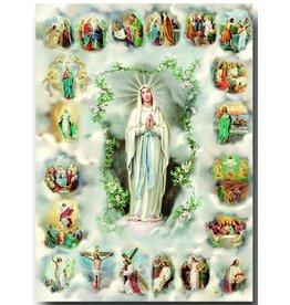 "William J. Hirten Co., LLC 20 Mysteries of Rosary Poster (19"" X 27"" Italian gold Embossed Poster)"
