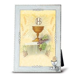 William J. Hirten Co., LLC Silver Plated Pearlized Communion Photo Frame