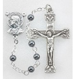 4mm Genuine Hematite Rosary, 17""